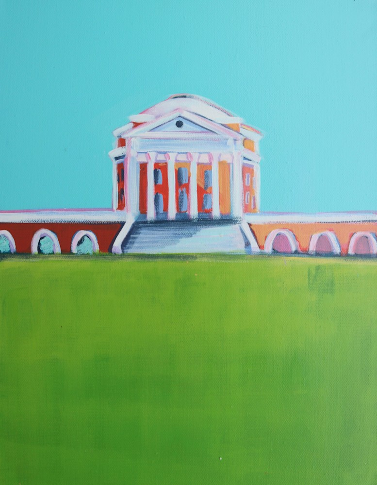 new UVA ROTUNDA PRINT BLUE SKY
