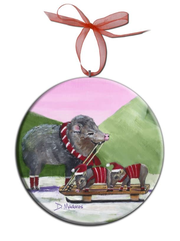 javelina holiday orn