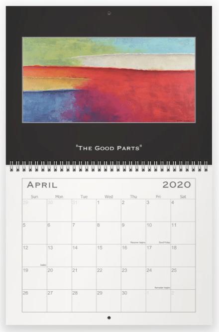 Heather Haymart Fine Art 2020 Abstract Calendar   April