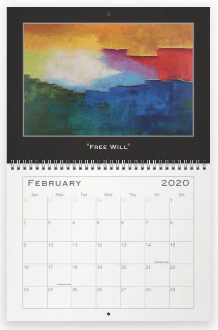 Heather Haymart Fine Art 2020 Abstract Calendar   February