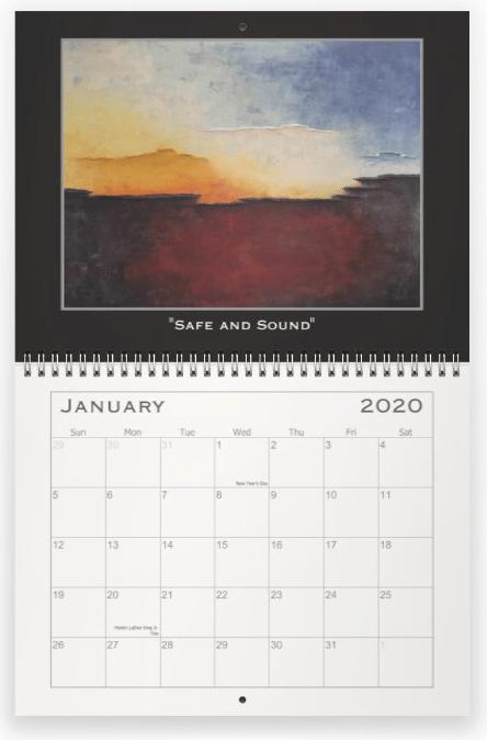 Heather Haymart Fine Art 2020 Abstract Calendar   January