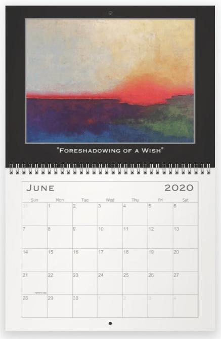 Heather Haymart Fine Art 2020 Abstract Calendar   June