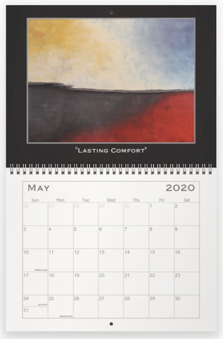 Heather Haymart Fine Art 2020 Abstract Calendar   May