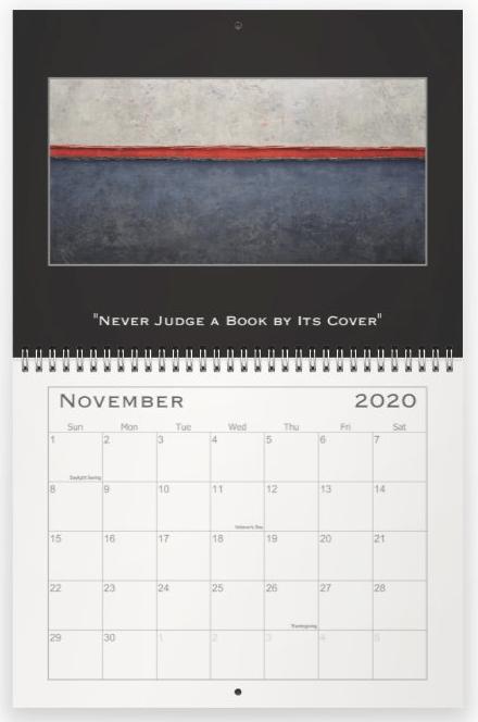 Heather Haymart Fine Art 2020 Abstract Calendar   November