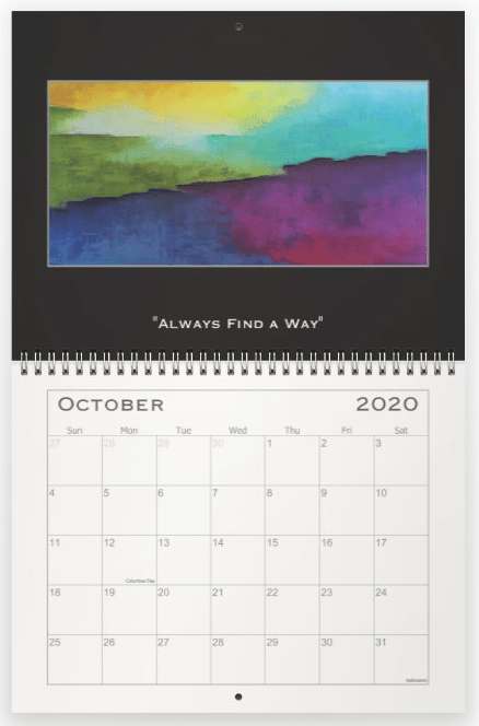Heather Haymart Fine Art 2020 Abstract Calendar   October