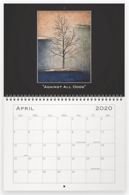 Heather Haymart Fine Art 2020 Trees Calendar   April