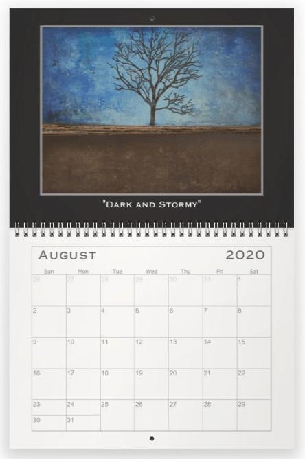 Heather Haymart Fine Art 2020 Trees Calendar   August