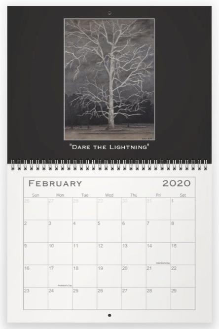 Heather Haymart Fine Art 2020 Trees Calendar   February