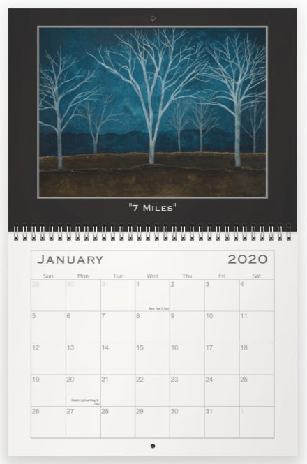 Heather Haymart Fine Art 2020 Trees Calendar   January