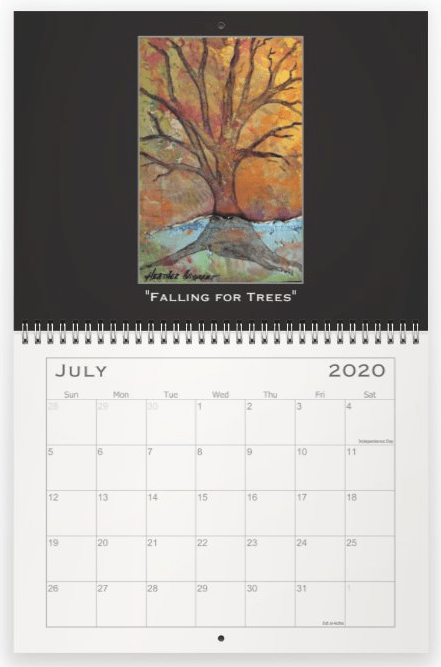 Heather Haymart Fine Art 2020 Trees Calendar   July