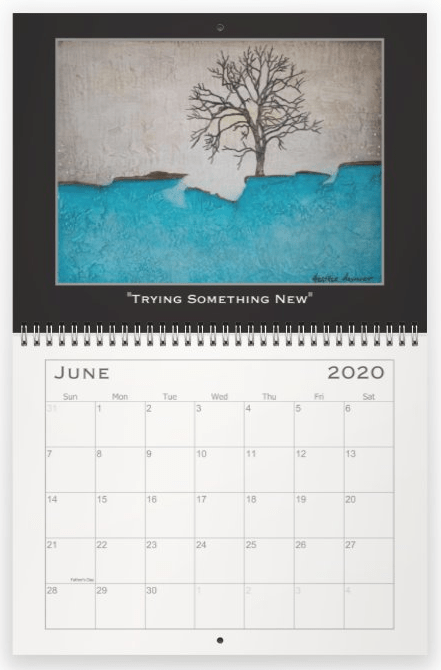 Heather Haymart Fine Art 2020 Trees Calendar   June