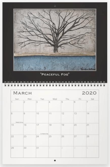 Heather Haymart Fine Art 2020 Trees Calendar   March
