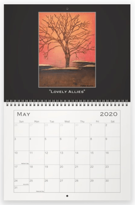 Heather Haymart Fine Art 2020 Trees Calendar   May