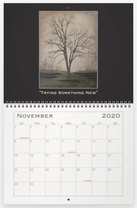 Heather Haymart Fine Art 2020 Trees Calendar   November