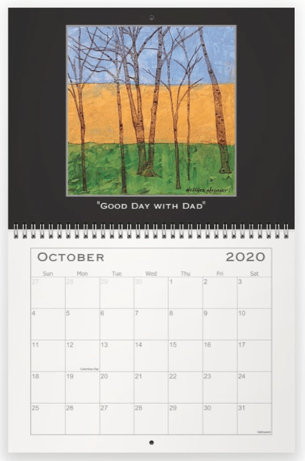 Heather Haymart Fine Art 2020 Trees Calendar   October