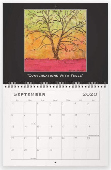 Heather Haymart Fine Art 2020 Trees Calendar   September