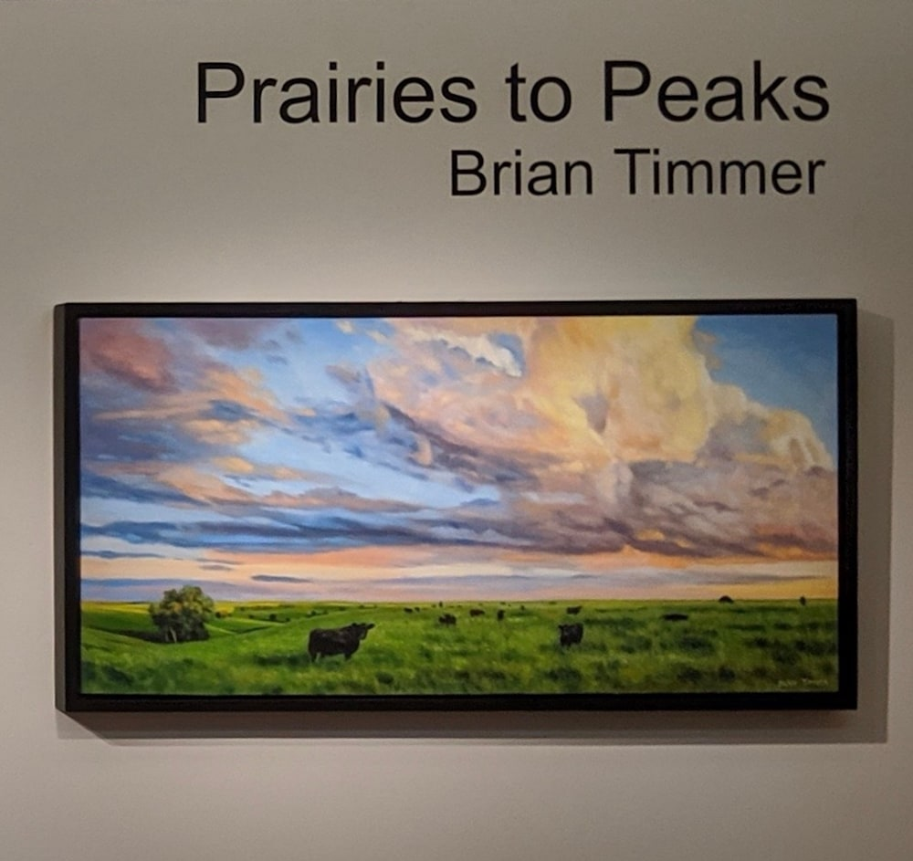 Flint Hills Evening with frame