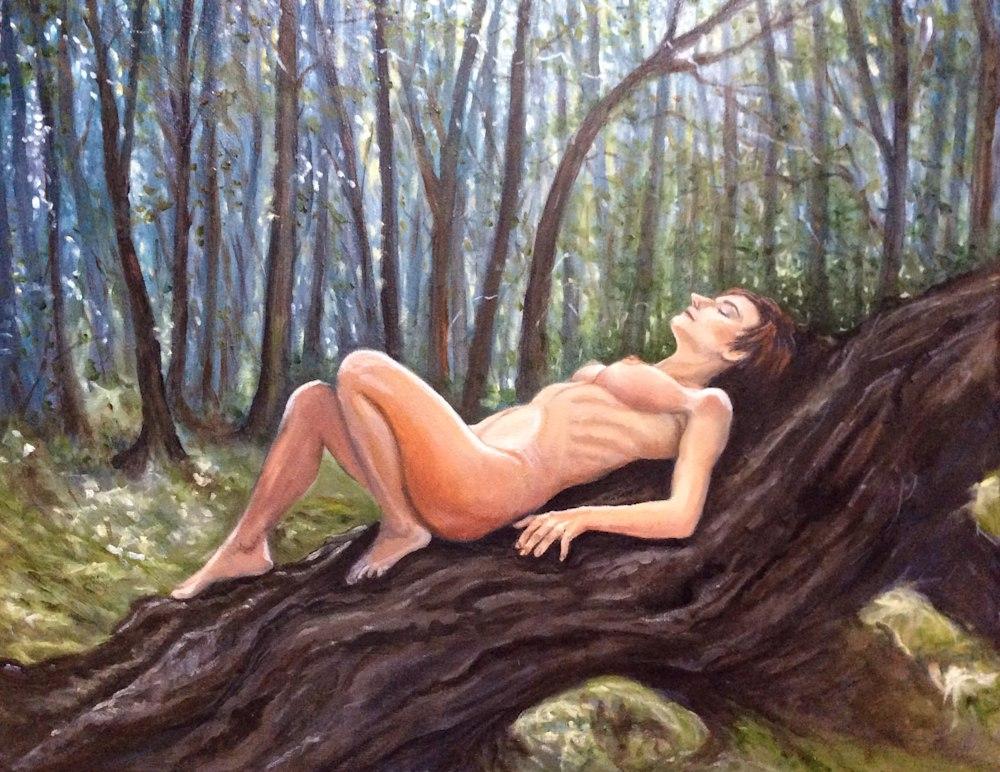 A Quiet Enclave Original Romantic Fine Art Figurative Oil Painting Close up