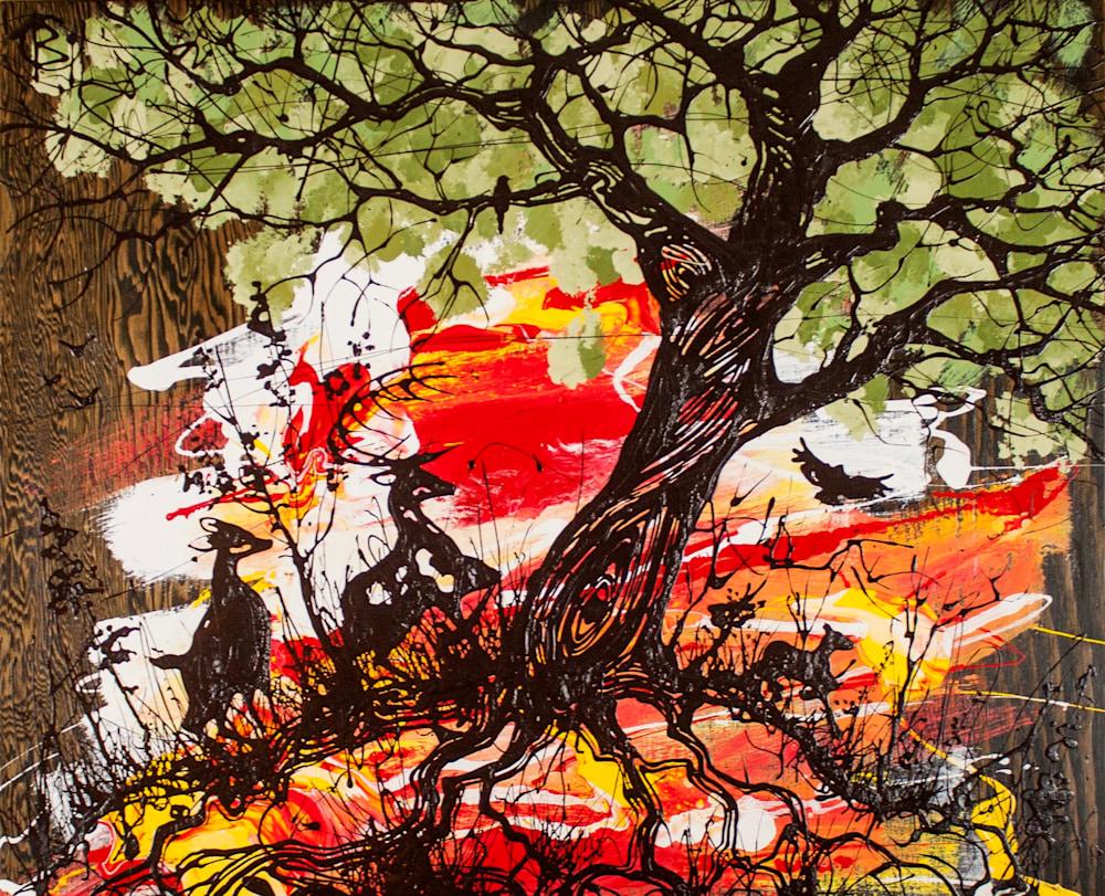 Trees EveningForage 23x29