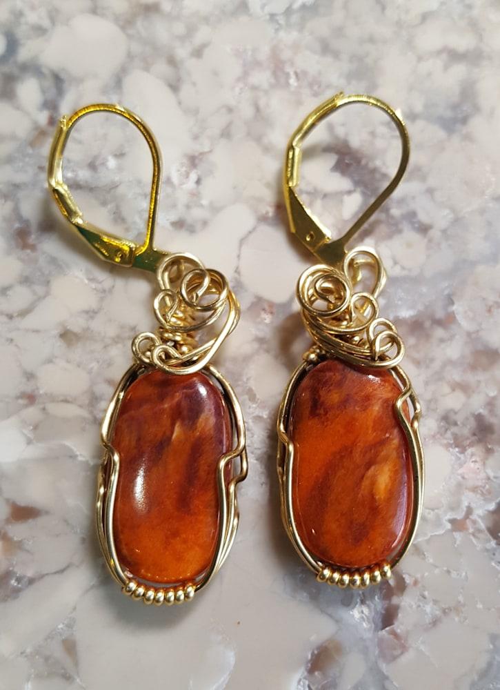 Spiney Oyster earrings Sherryl Brunner