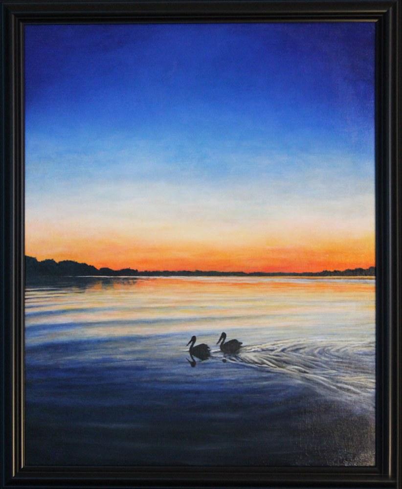 Pelicans Framed