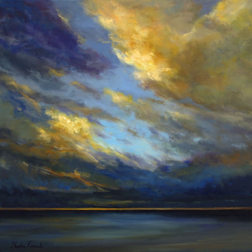 4592 Pacific Coastal Clouds 20x20 sheila finch