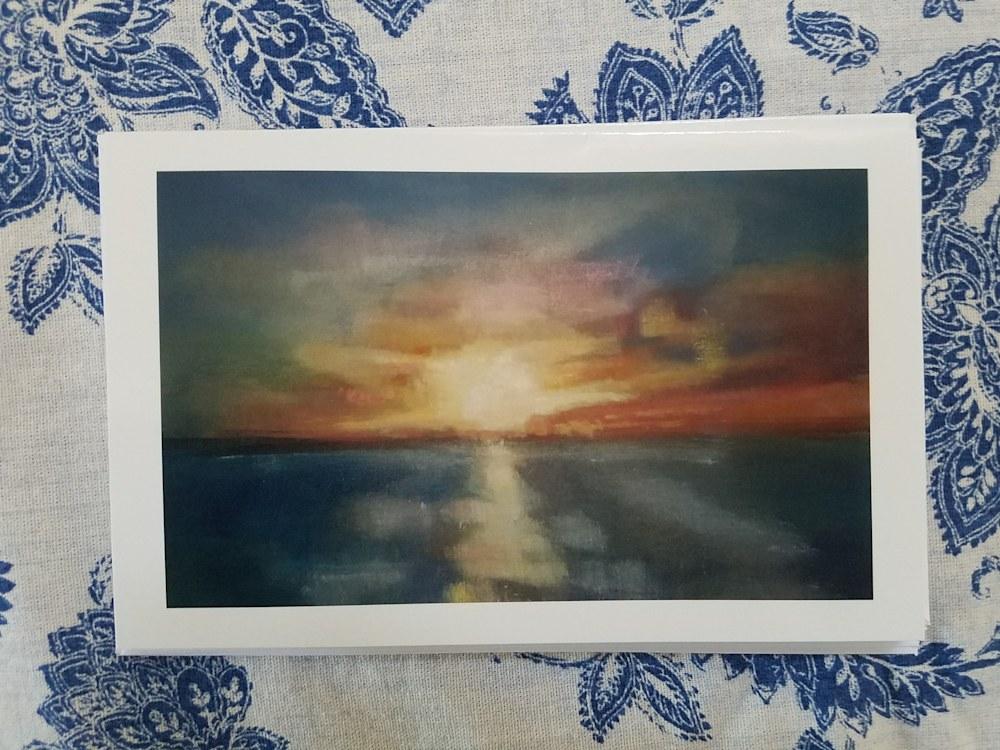 Connery Boyd Notecard Jenn's Sunset