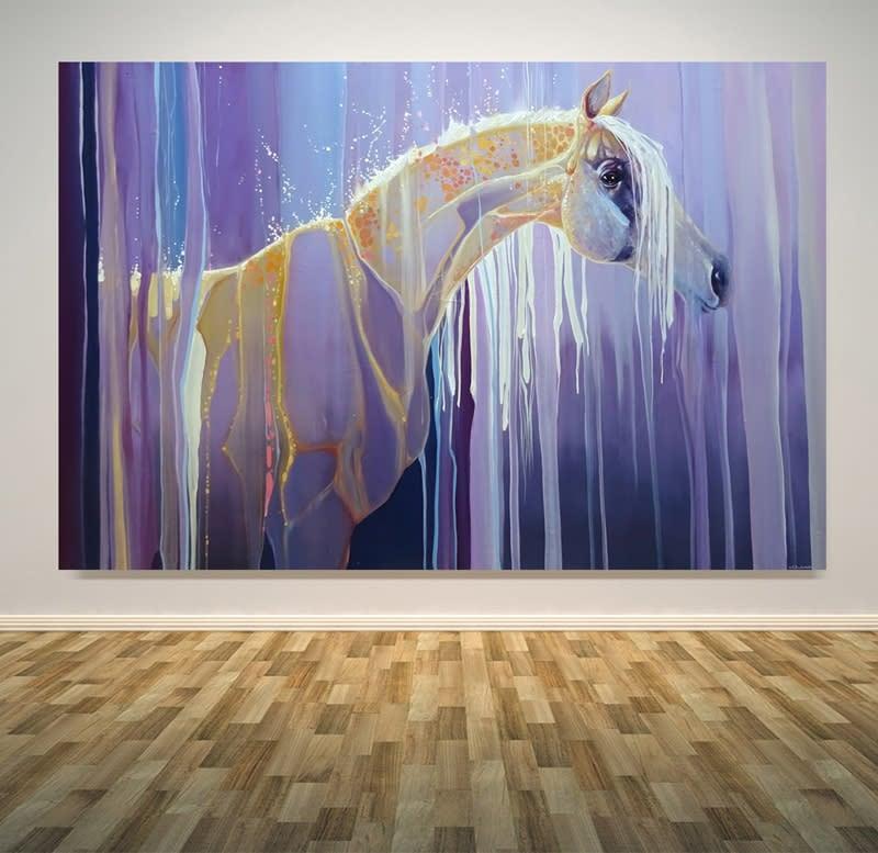 assembling horse wall art S