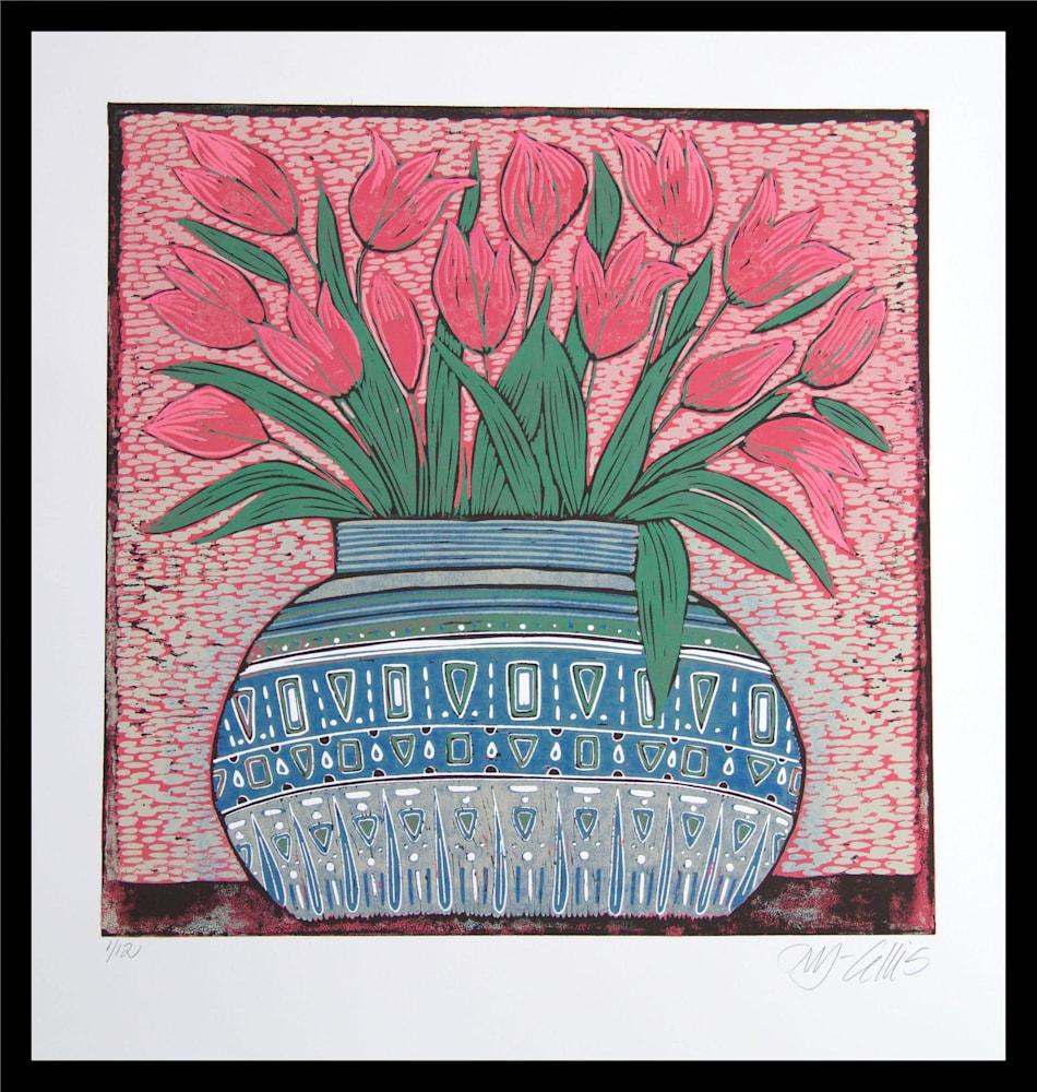 Pink tulips 1of12 framed