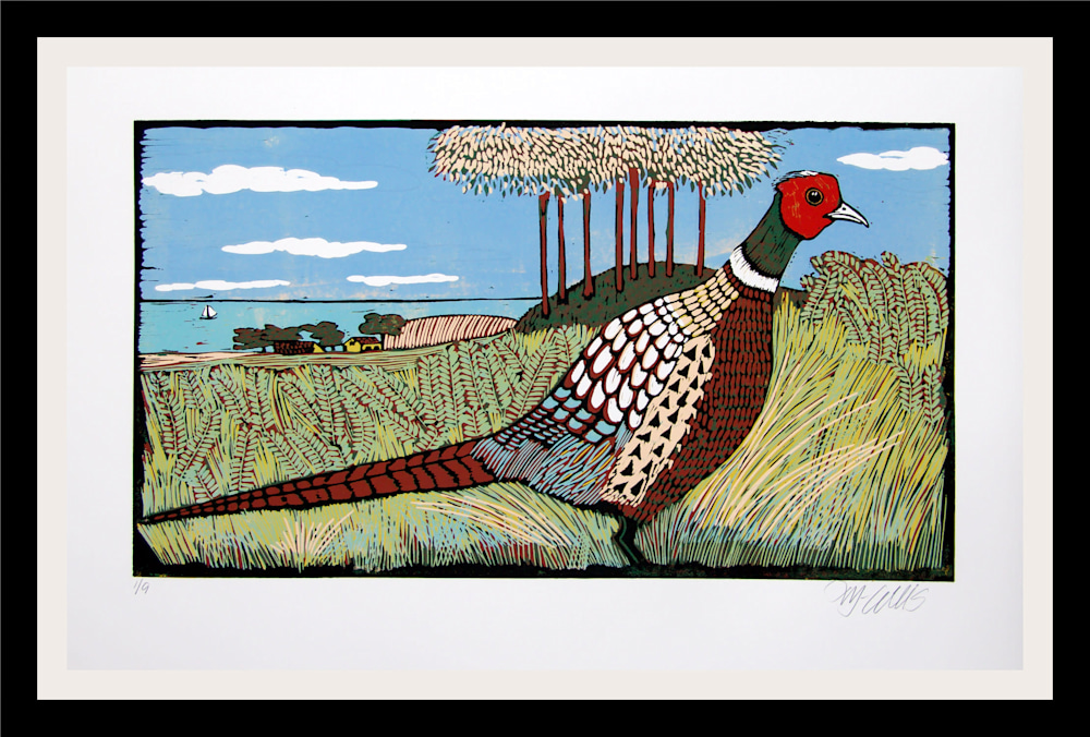 Pheasant Land framed