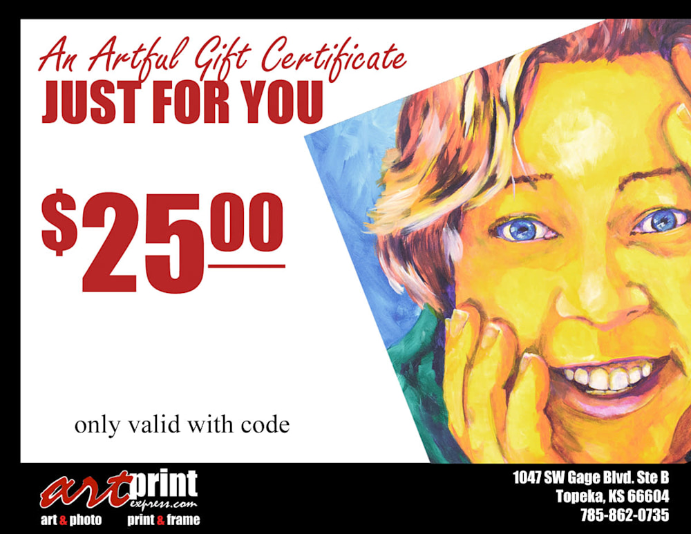 Gift Certificate 25 2017