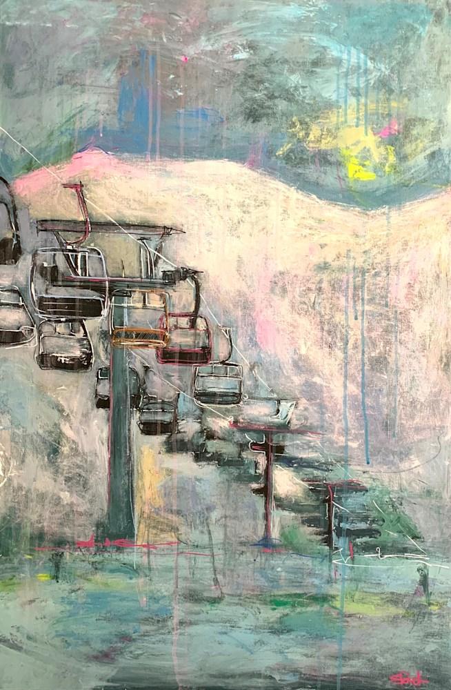 Ski Lift III by Steph Fonteyn