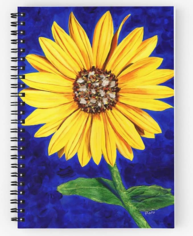 Sassy Sunflower Notebook