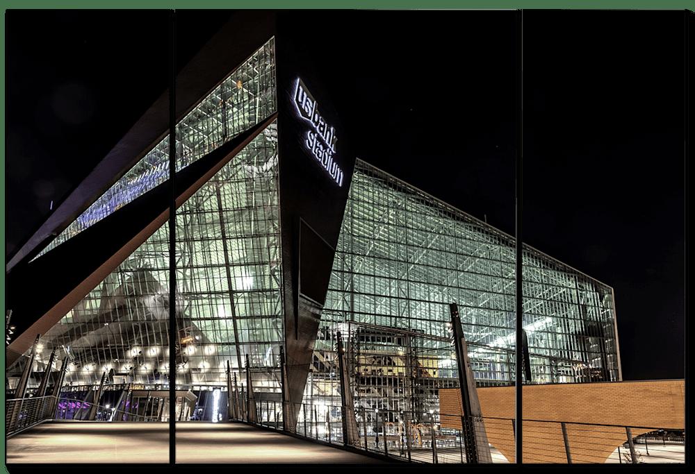 US Bank Stadium Close up