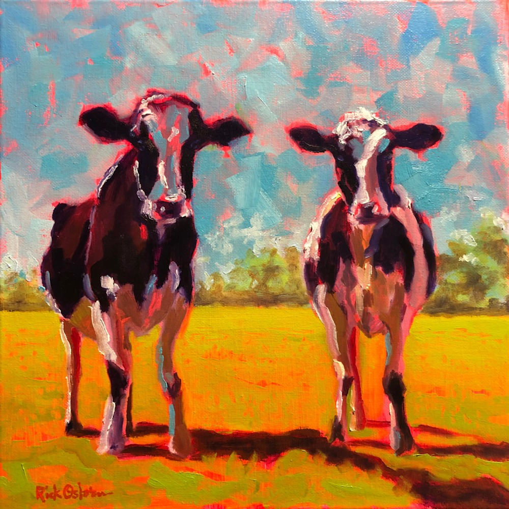 two cows