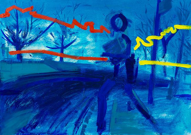 Stuart Bush, Living in a world of desire, oil on canvas, 50x70 cm