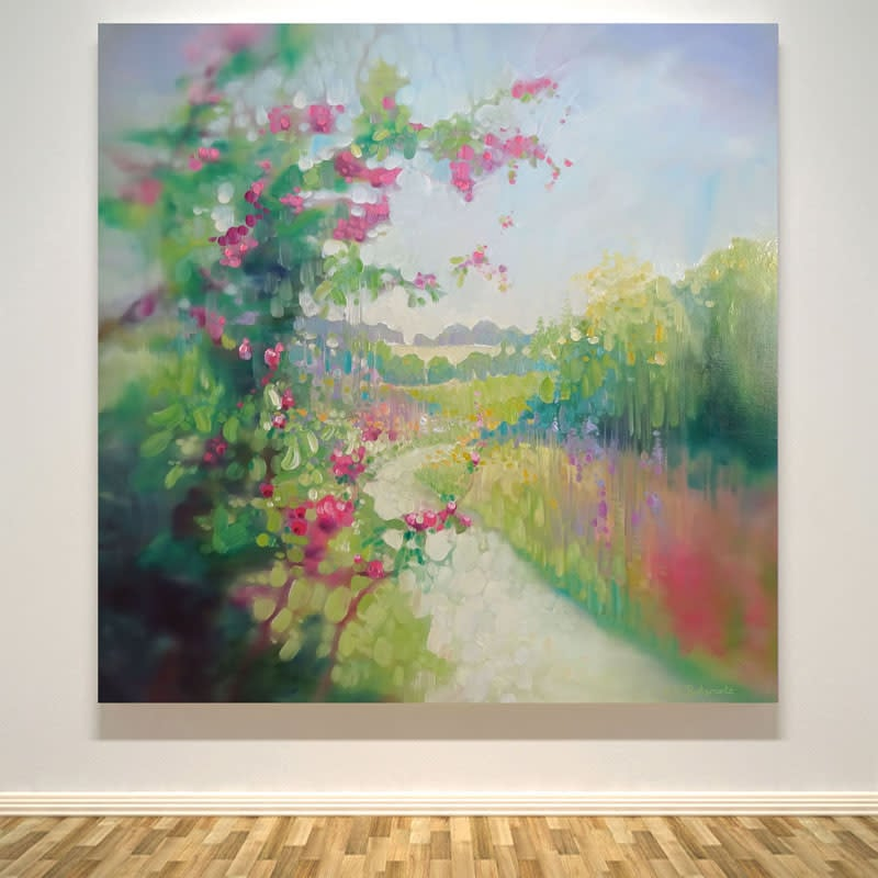 the chalk path in spring by gill bustamante wall art S