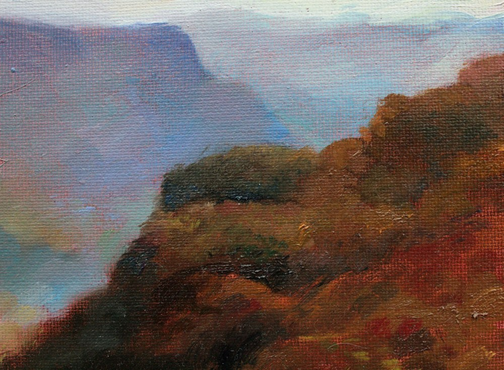 Linville Gorge at Dusk   Painting   Rafferty