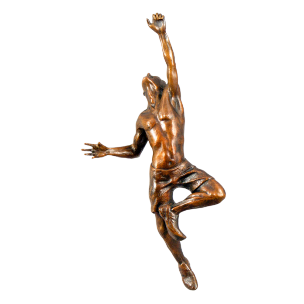 Lance Glasser   The Ascent Transparent Background   Evo Art Maui Front Street Lahaina Sculpture Climber Male Man Hawaii
