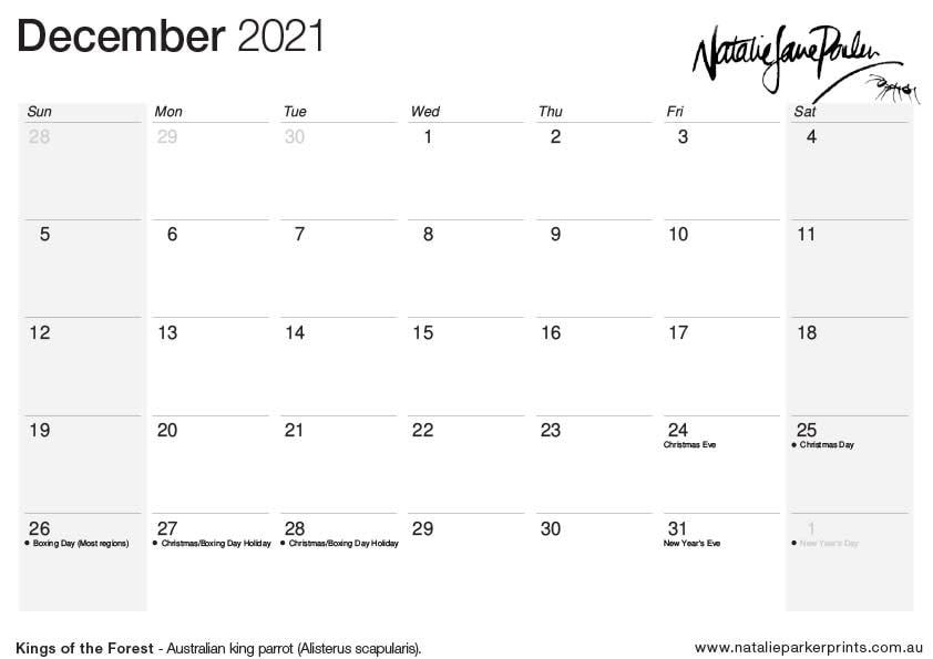 NJP 2021 Calendar A4 Dec cal