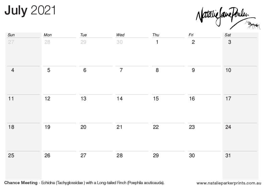NJP 2021 Calendar A4 Jul cal
