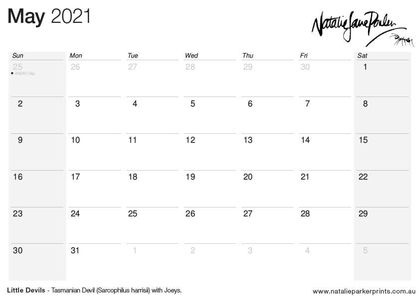 NJP 2021 Calendar A4 May cal