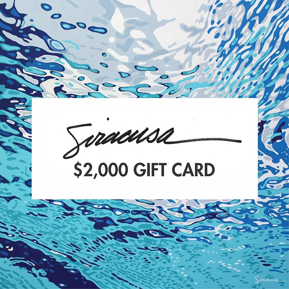 2000 Dollar Gift Card