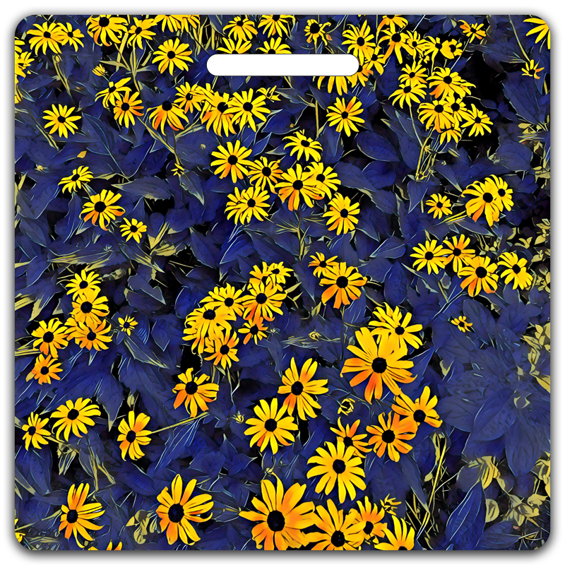 Bright Eyed Black Eyed Susans Bag Tag