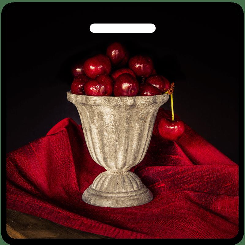 Cherry Chalice Bag Tag