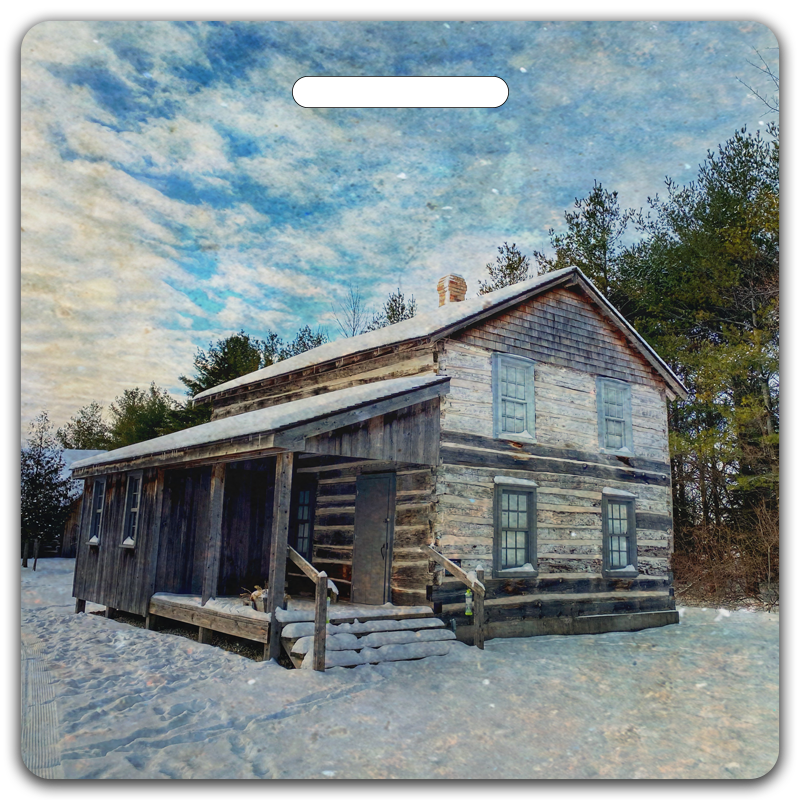 Winter Cabin Bag Tag