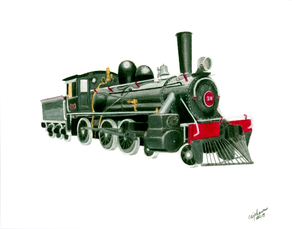 caj antique locomotive original