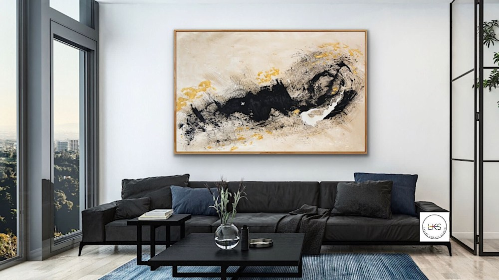 Arrival Of Inspiration staged AR blk couch Lesley Koenig