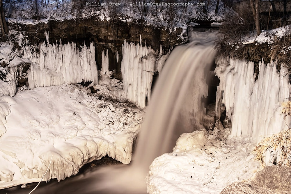 Minnehaha Falls in Winter sm