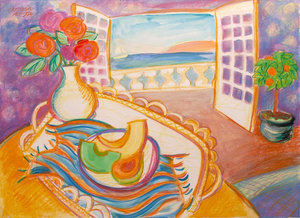 Seaside Breakfast Paint Happy Cristina Acosta 2020